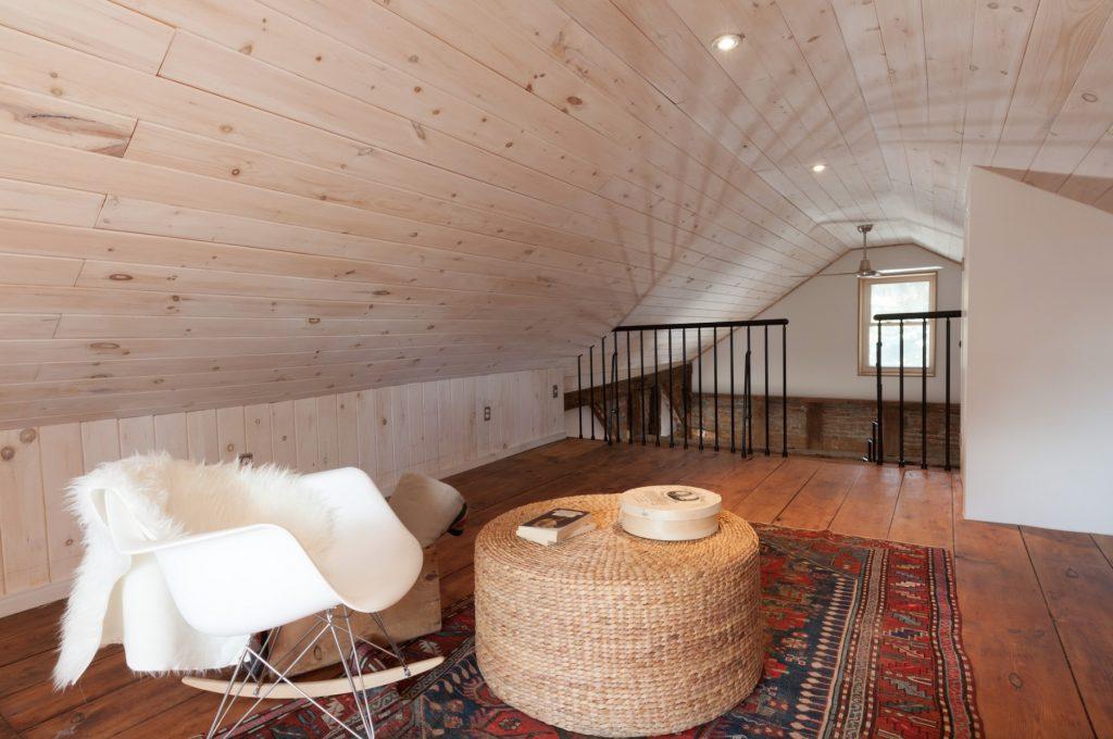 Loft with reclaimed floors