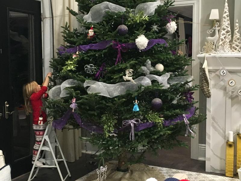 Myah Decorating the Tree