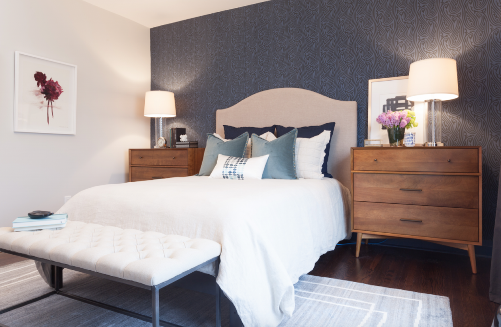 Transitional Bedroom from HGTV's Income Property